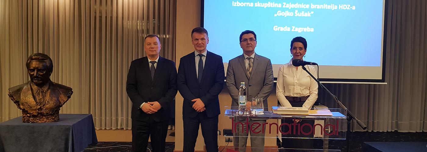 Izabran novi predsjednik Zajednice branitelja Gojko Šušak u Zagrebu